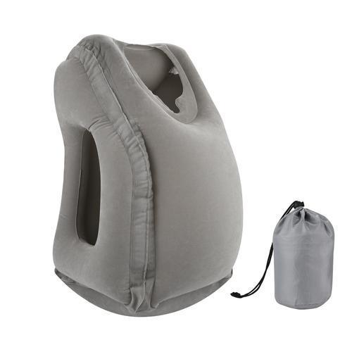 Face Cradle Inflatable Pillow-Travel Comfort-Nifty Drifter-Gray