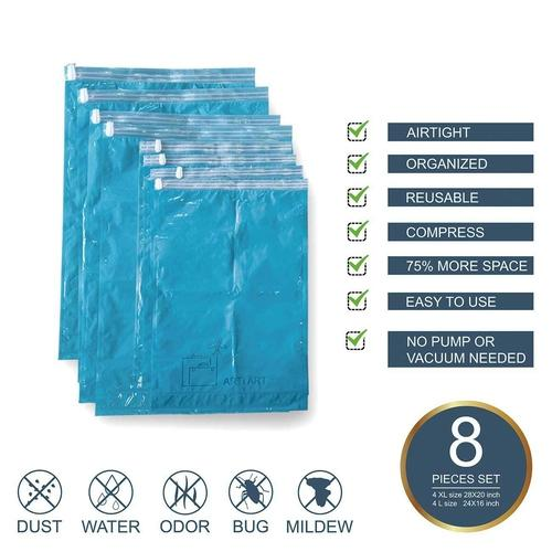 Luggage Compression Bags - 8 Pack-compression packing bag-Nifty Drifter