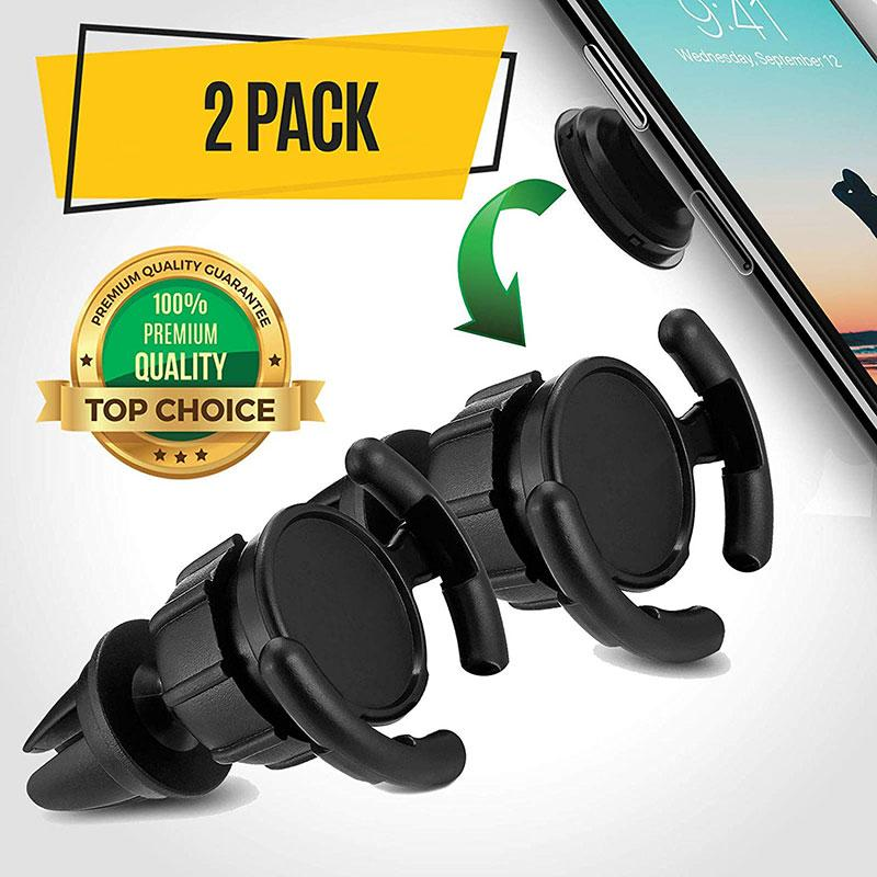 Popsocket Compatible Air Vent Phone Mount - 2 Pack-Phone Mount-Nifty Drifter