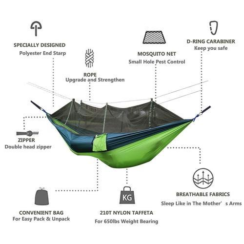 Portable Camping Hammock with Mosquito Net-Outdoors-Nifty Drifter