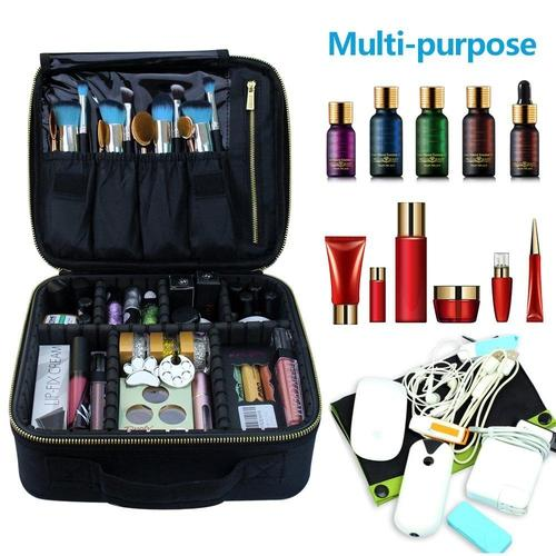 Portable Cosmetic Case With Adjustable Dividers-Makeup Case-Nifty Drifter-