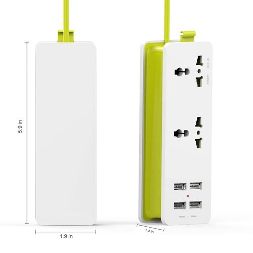 Portable Power Strip And Surge Protector-Power Strip-Nifty Drifter