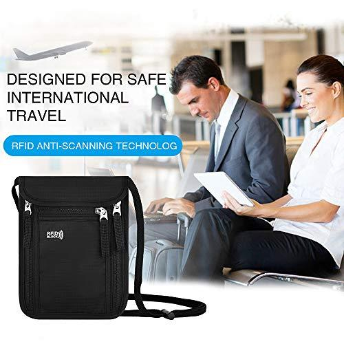 RFID Blocking Neck Passport Holder-Travel Wallets-Nifty Drifter