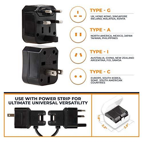 Travel Adapter and Power Strip Charging Station-Power Strip-Nifty Drifter-black