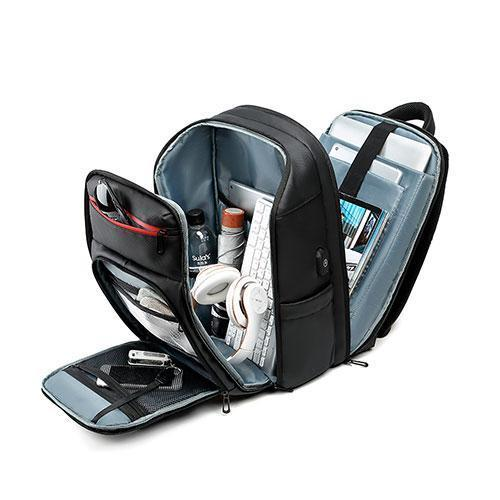Multiple compartments of Travel Laptop Backpack For Men