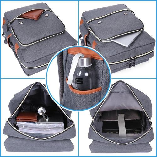Vintage Laptop Backpack With USB Charging Port-Backpack-Nifty Drifter-