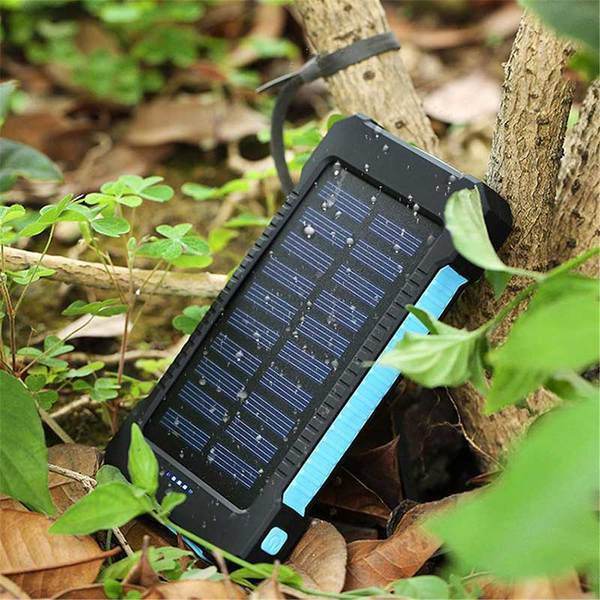 Water Resistant Portable Solar Charger - 20000 mAh Capacity-Charge-Nifty Drifter-Blue