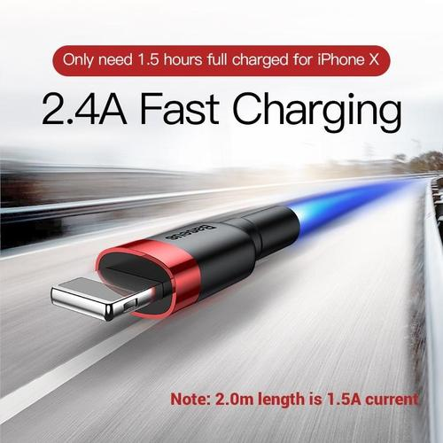 Wear-Resistant Lightening Cable for Iphone - 2.4A Quick Charge-usb cable-Nifty Drifter-
