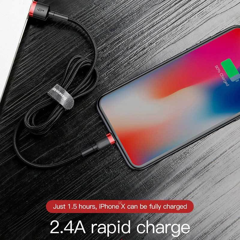 Wear-Resistant Lightening Cable for Iphone - 2.4A Quick Charge