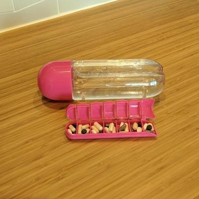 Weekly Pill Organizer Water Bottle-Water Bottles-Nifty Drifter