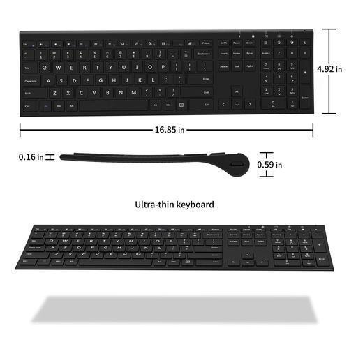 Wireless Rechargeable Full Keyboard and Mouse-Keyboards and Mouse-Nifty Drifter-Black