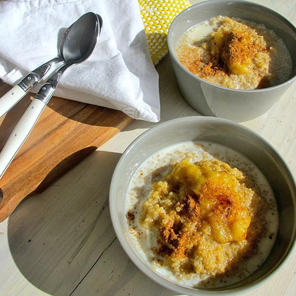 Coconut Quinoa Porridge with Caramelised Banana