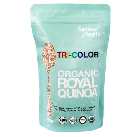 spoon health organic royal quinoa tricolor 450g
