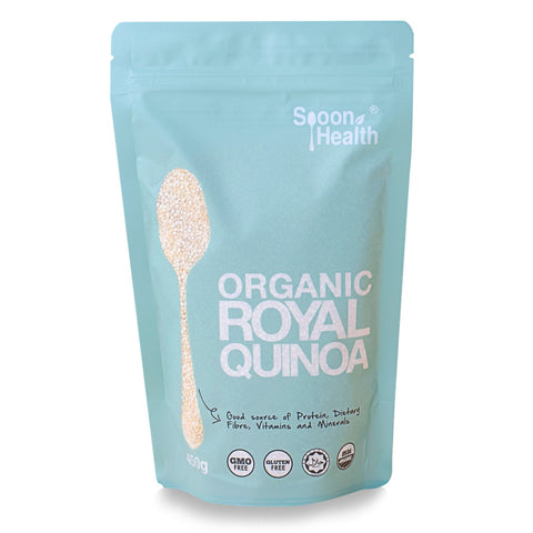 spoon health organic royal quinoa white 450g