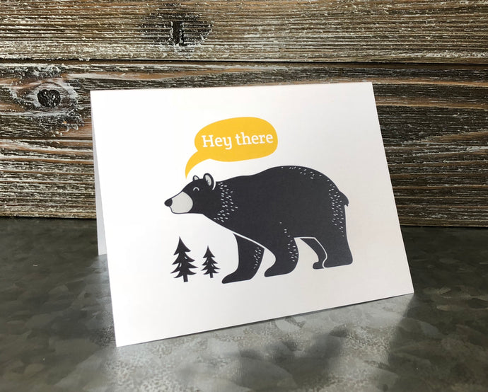 Hey There Bear Card