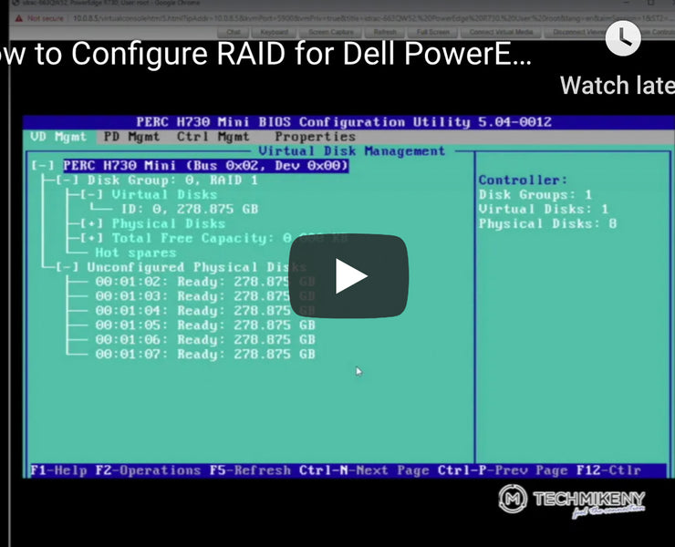 Video Tutorial: How to Configure RAID for Dell PowerEdge Servers