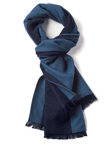 Men's Reversible Scarf Blue & Grey