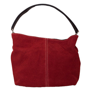 Suede Slouch Bag
