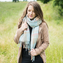 Light Blue & Pink Candy Scarf