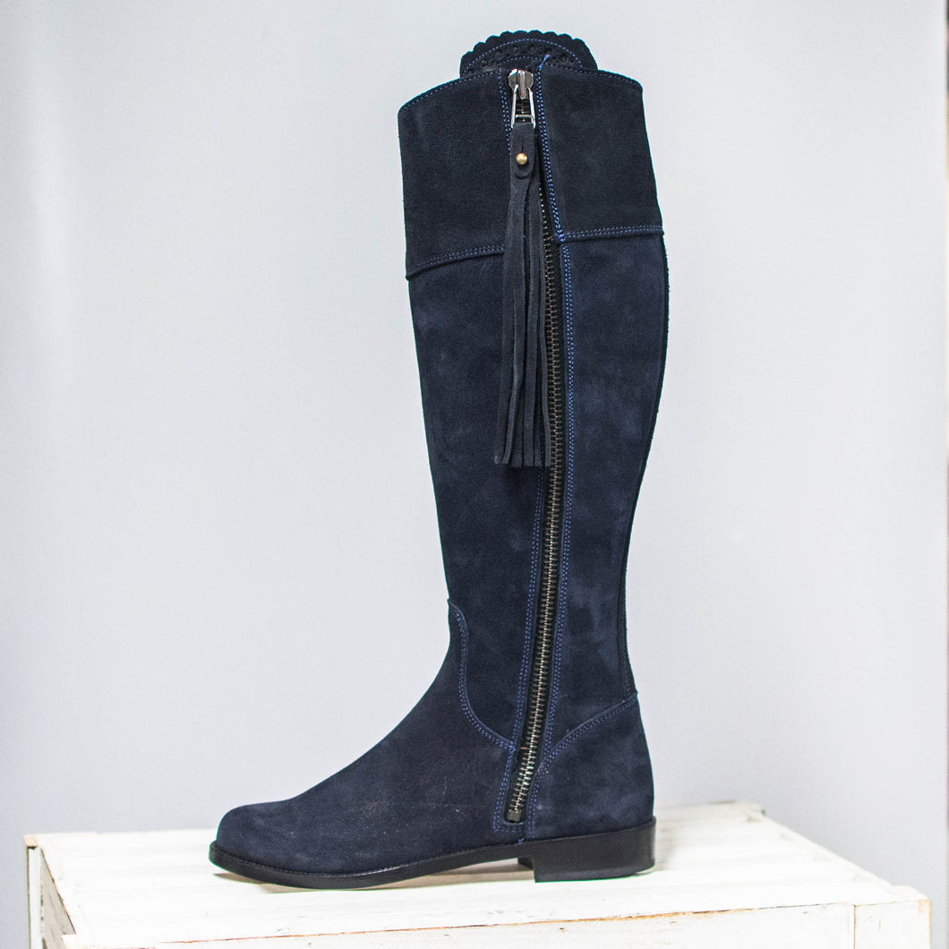 Herce Valverde Navy Leather Boots