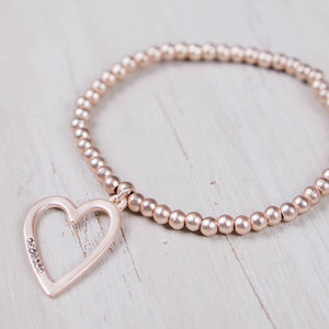 Emily Heart Bracelet Rose Gold