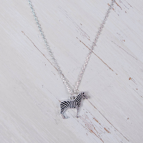 Zebra Charm Necklace