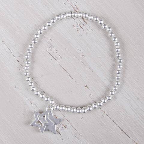 Bella Double Star Bracelet Silver