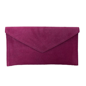 Suede Clutch Bag
