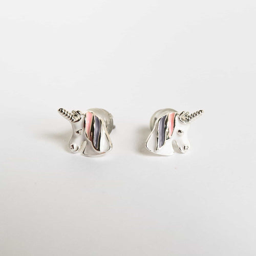 Girls Lilac Unicorn Earrings