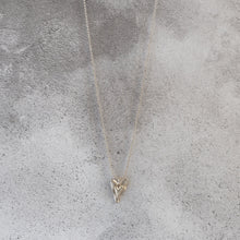 Matt Double Gold Heart Necklace