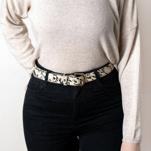 Animal Print Belt Cow