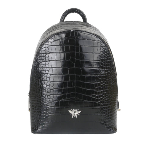 Black Croc Bee Backpack