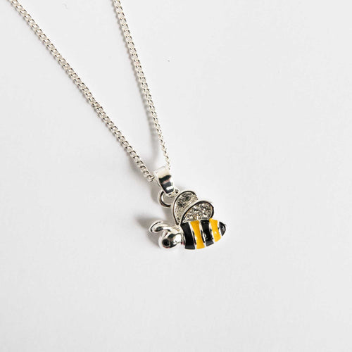 Girls Bumble Bee Necklace