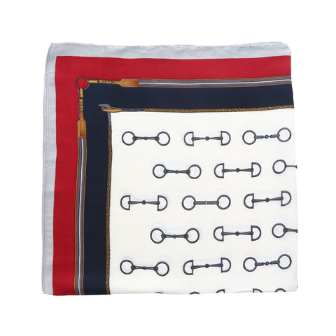 Stirrup Square Neck Silk Scarf