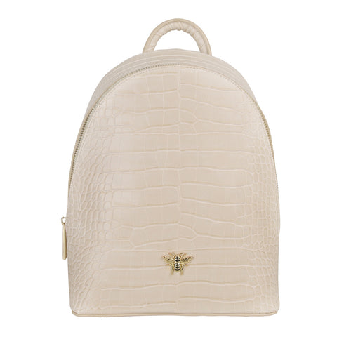 Cream Croc Bee Backpack