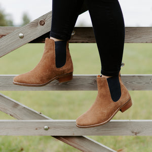 Chelsea Tan Suede Boots