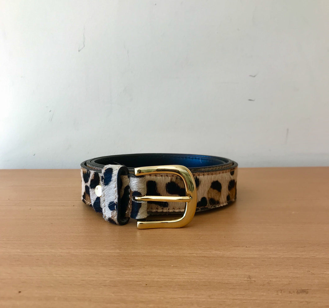 Animal Print Belt Leopard