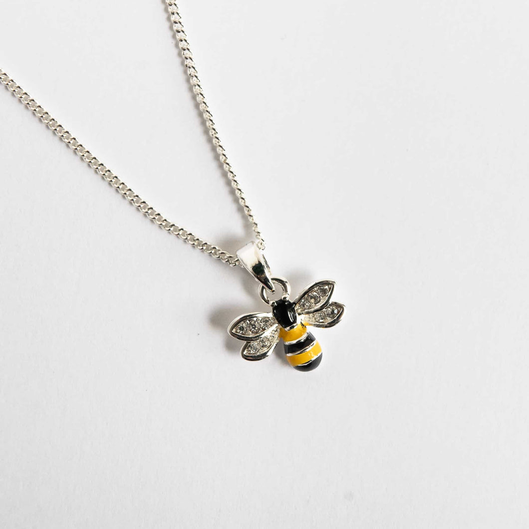 Girls Flying Bumble Bee Necklace