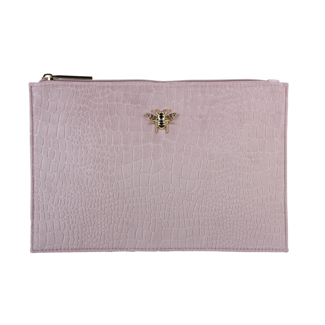 Pink Velvet Clutch, Cosmetic & Phone Bag