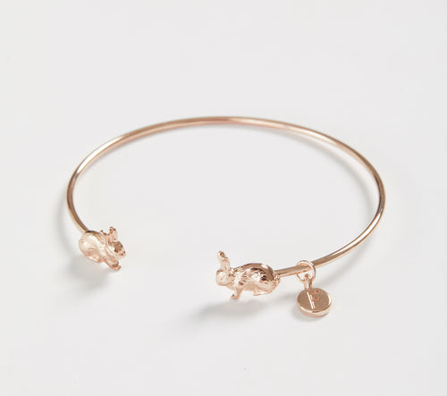 Rose Gold Rabbit Bangle Bracelet