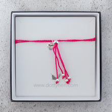 Friendship Bit Bracelet Bright Pink