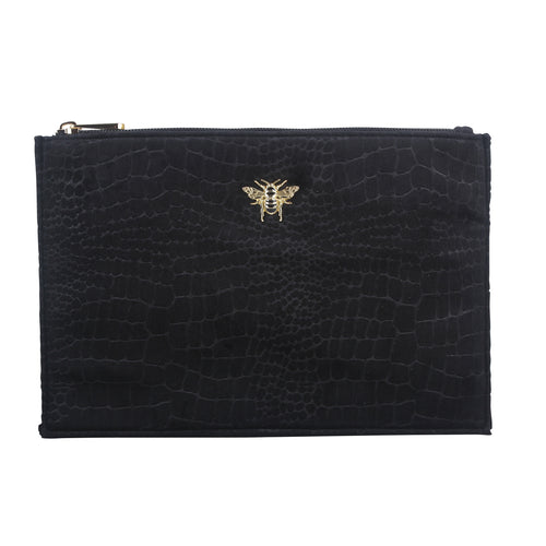 Black Velvet Clutch, Cosmetic & Phone Bag