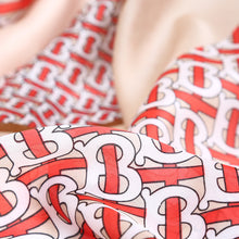 Check and Link Red Silk Scarf