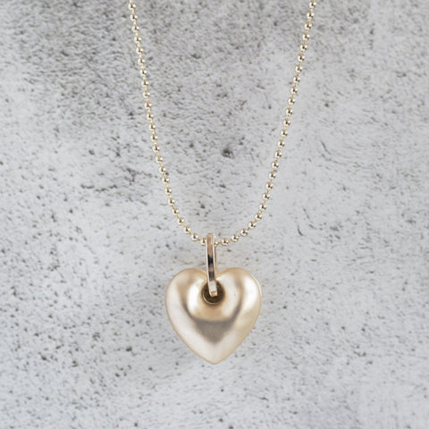 Matt Gold Single Heart Necklace