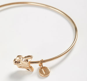 Gold Fox Bangle Bracelet