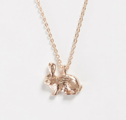 Short Rose Gold Rabbit Necklace