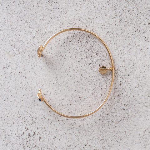Enamelled Gold Bee Bangle Bracelet