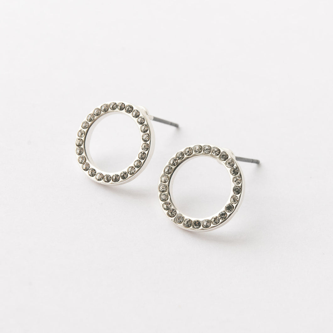 Diamanté Silver Earrings