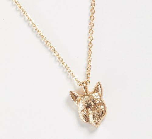 Short Gold Fox Necklace