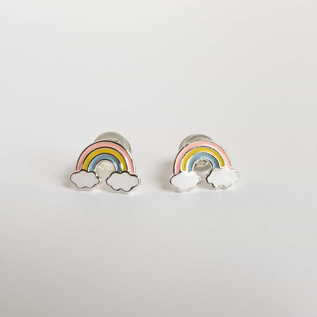 Girls Pastel Rainbow Earrings